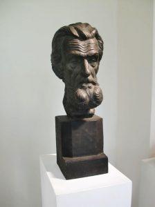 Jan Vítězslav Dušek, Portrét starého muže (pan Pflégr), 1923, patinovaná sádra