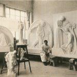 J. V. Dušek v novém ateliéru v Táboře, 1923